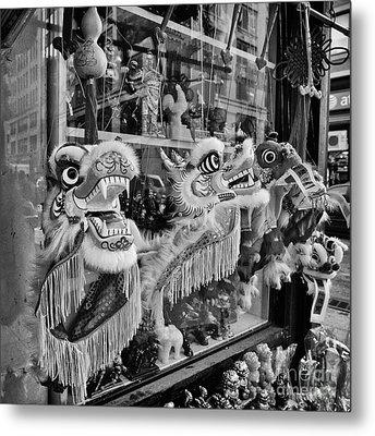 Chinatown Dragons Nyc Metal Print by John Farnan