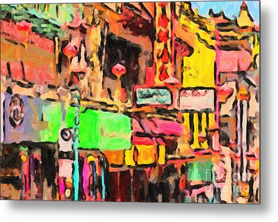 Chinatown In Abstract Metal Print by Wingsdomain Art and Photography