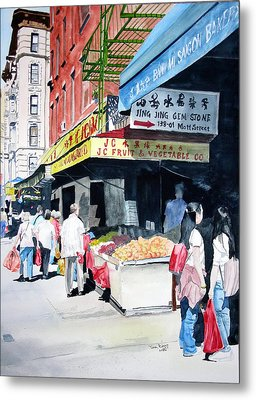 Metal Print featuring the painting Chinatown Number One by Tom Riggs