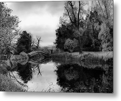 Chinese Bridge At Wrest Park Metal Print