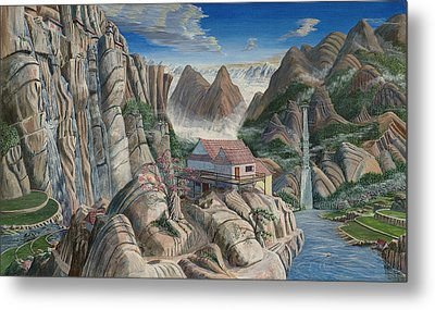 Chinese Dreamscape Metal Print