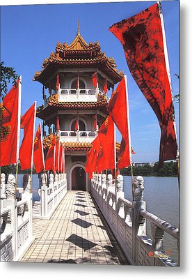 Metal Print featuring the photograph Chinese Gardens  North Pagoda 19c by Gerry Gantt