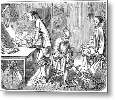 Chinese Immigrants, 1855 Metal Print by Granger
