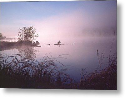 Chippewa River At Dawn Metal Print