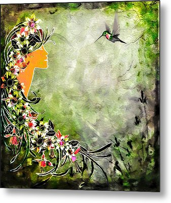 Chloris Metal Print by Mary Morawska