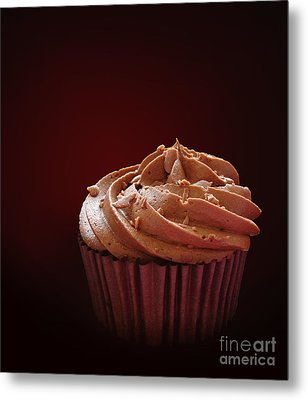 Chocolate Cupcake Isolated Metal Print by Jane Rix