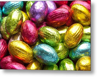 Chocolate Easter Eggs Metal Print by Hans Engbers