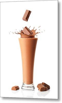 Chocolate Milkshake Smoothie Metal Print by Amanda Elwell