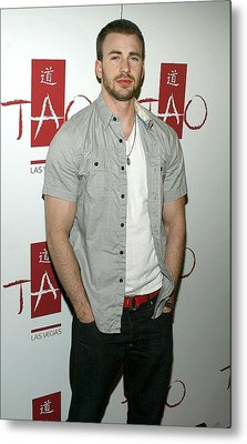 Chris Evans At Arrivals For Tao Partner Metal Print by Everett