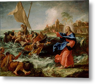 Christ At The Sea Of Galilee Metal Print by Sebastiano Ricci