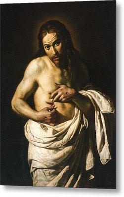 Christ Displaying His Wounds Metal Print by Giacomo Galli