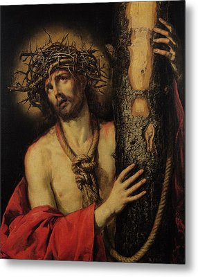 Christ Man Of Sorrows Metal Print by Antonio Pereda y Salgado