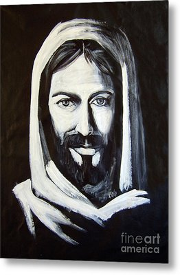 Christ Smiling Metal Print