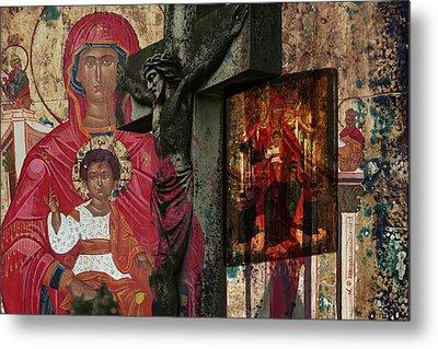 Christian Symbols Metal Print