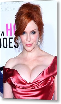 Christina Hendricks At Arrivals For I Metal Print by Everett