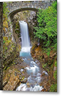 Metal Print featuring the photograph Christine Falls by Joe Urbz