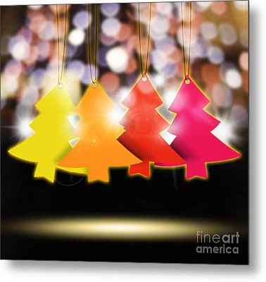 Christmas And New Year 2013 Metal Print