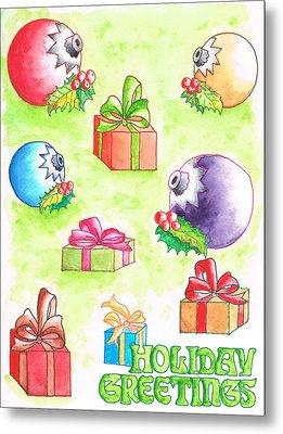 Christmas-card Metal Print