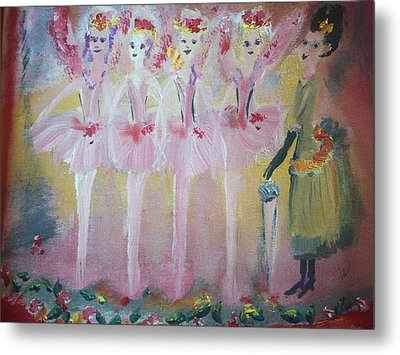 Christmas Eve Fairies Metal Print by Judith Desrosiers