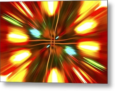 Metal Print featuring the photograph Christmas Light Abstract by Steve Purnell