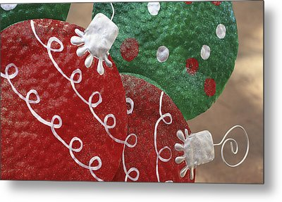 Metal Print featuring the photograph Christmas Ornaments by Patrice Zinck