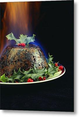 Christmas Pudding Metal Print by David Munns
