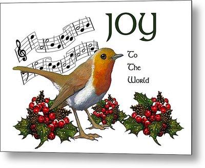 Christmas Robin Metal Print by Joyce Geleynse
