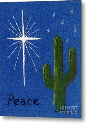 Metal Print featuring the painting Christmas Star Greeting Card by Judy Filarecki