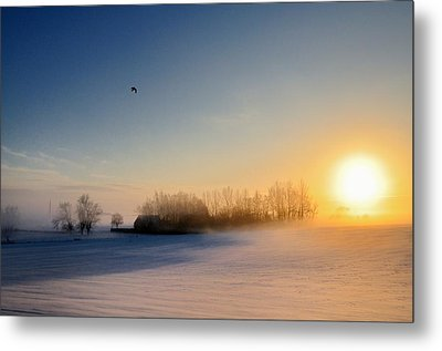 Christmas Sunset Metal Print by Pierre Hanquin Photographie