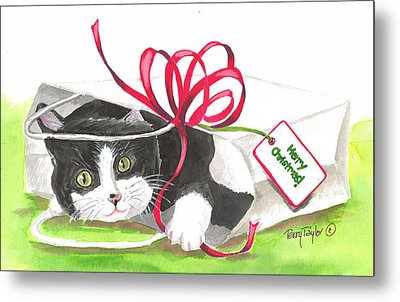 Christmas Surprise Metal Print by Terry Taylor