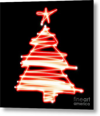 Christmas Tree Lighting Metal Print by Setsiri Silapasuwanchai