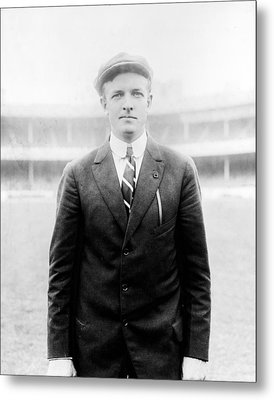 Metal Print featuring the photograph Christy Mathewson - Major League Baseball Player by International  Images