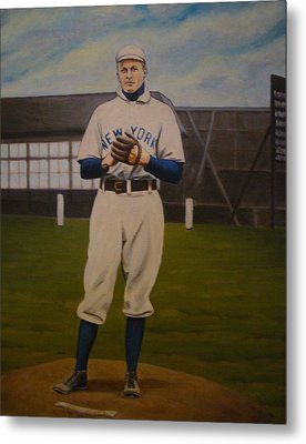 Christy Mathewson Metal Print by Mark Haley