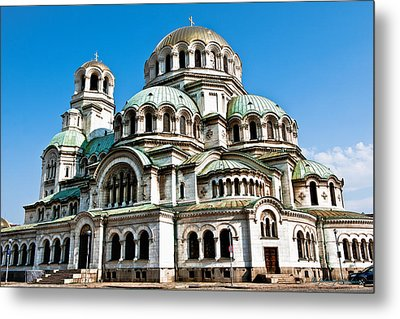 Chruch In Bulgaria Metal Print by Johnny Sandaire