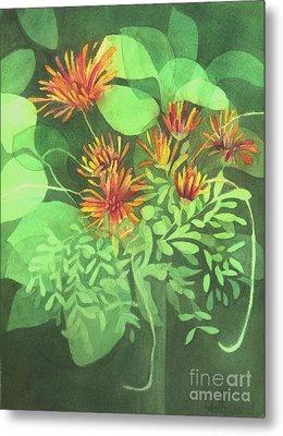 Chrysanthemums Metal Print by Anne Havard