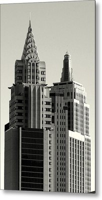 Chrysler And Empire Metal Print by Linda Edgecomb