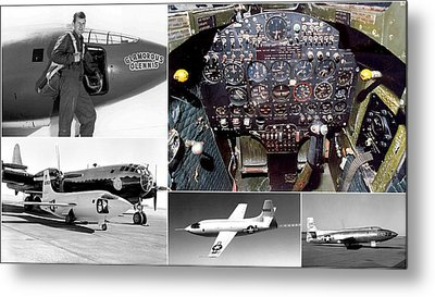 Chuck Yeager And The Bell X-1 Rocket Plane Metal Print