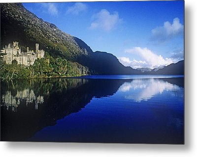 Church At The Waterfront, Kylemore Metal Print by The Irish Image Collection