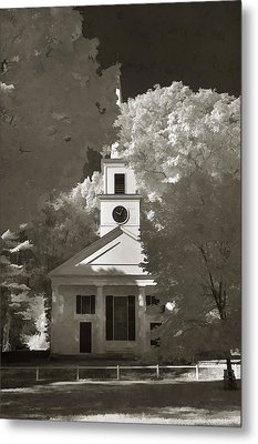 Church In Infrared Metal Print by Joann Vitali