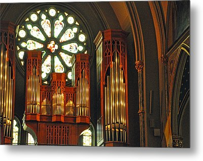 Church Interior Metal Print by Helen Haw