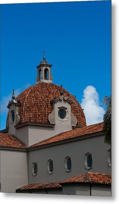 Metal Print featuring the photograph Church Of The Little Flower Dome And Cross by Ed Gleichman