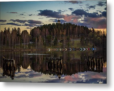 Metal Print featuring the photograph Church On A Hill by Matti Ollikainen