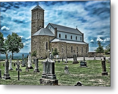 Metal Print featuring the photograph Church On The Hill by Renee Hardison