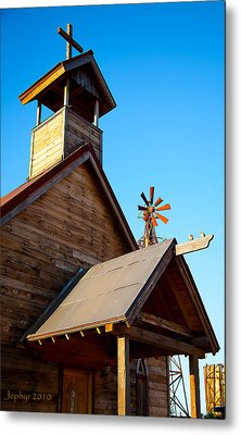 Church On The Mount - Goldfield Ghost Town Metal Print by Jephyr Art