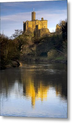 Church Reflection In Water, Warkworth Metal Print by John Short