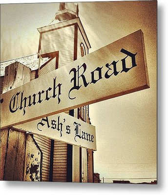 Church Road Metal Print by Christopher Campbell