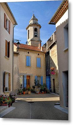 Metal Print featuring the photograph Church Steeple In Provence by Dave Mills