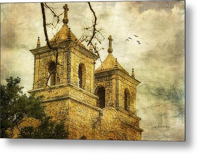 Metal Print featuring the photograph Church Towers by Joan Bertucci