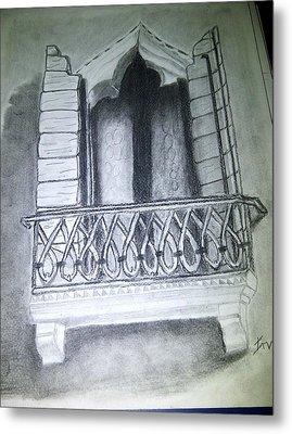 Church Window Metal Print by Irving Starr