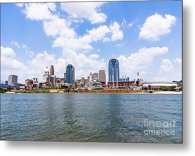 Cincinnati Skyline And Downtown City Buildings Metal Print by Paul Velgos